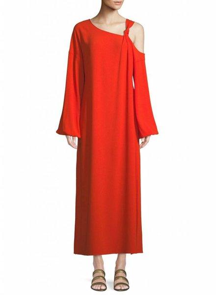 ELIZABETH & JAMES SHONTAE L/S OFF SHOULDER KNOT DRESS