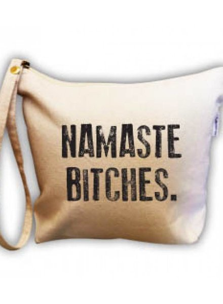 RETROSPECT NAMASTE BITCHES MAKE UP BAG