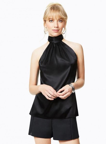 RAMY BROOK PAIGE TIE NECK SLEEVELESS TOP