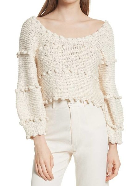 APIECE APART HYACINTH POM POM SWEATER