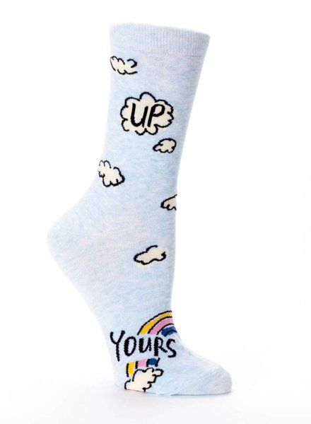 BLUE Q BQ UP YOURS CREW SOCKS
