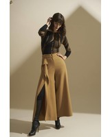 ISABEL DE PEDRO WIDE RUFFLE TROUSERS
