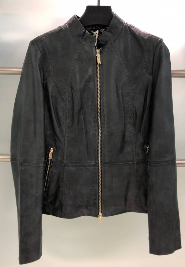RINO & PELLE ZIP LEATHER JACKET