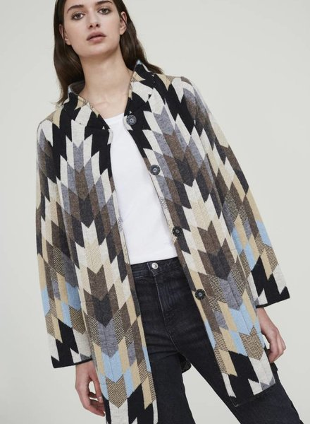 ALDO MARTINS LONG GRAPHIC COAT