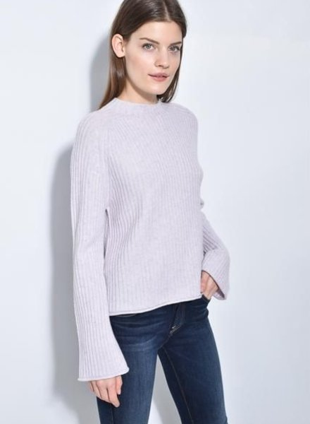 Brown Allan TWISTED RIB SWEATER
