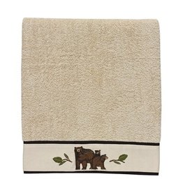 PARK DESIGNS BLACK BEAR TERRY BATH TOWEL