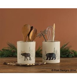 PARK DESIGNS RUSTIC RETREAT UTENSIL CROCK