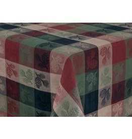 "PARK DESIGNS PINECONE TABLECLOTH 60"" X 84"""