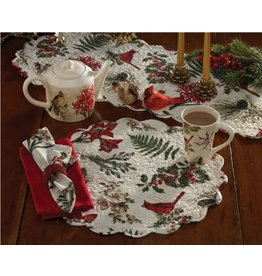 "PARK DESIGNS NATURE SINGS QUILTED PLACEMATE 17"" ROUND"