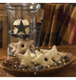 PARK DESIGNS BURLAP STARS NATURAL