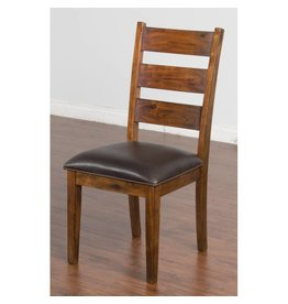 SUNNY DESIGNS TUSCANY LADDERBACK CHAIR W/CUSHION SEAT