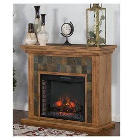 SUNNY DESIGNS SEDONA FIREPLACE MEDIA CONOLE WITH FIRE BOX