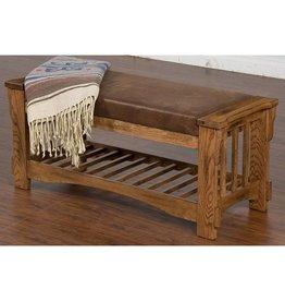 SUNNY DESIGNS Sedona Bench w/ Cushion seat