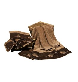 HIEND EMBROIDERED PINE CONE TOWEL SET 3 PC