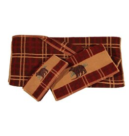 HIEND EMBROIDERED BEAR TOWEL SET 3 PC