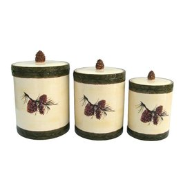 HIEND PINECONE CANISTER/LG