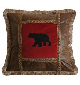 Carstens Applique Bear Pillow