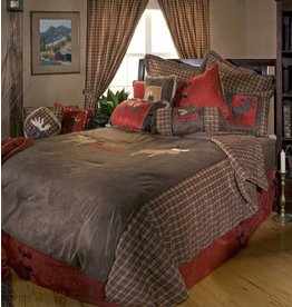 Carstens Moose Plaid Bedding Set Queen