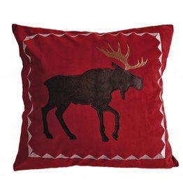 Carstens Red Moose Pillow
