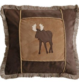 Carstens Brown Frame Moose Pillow