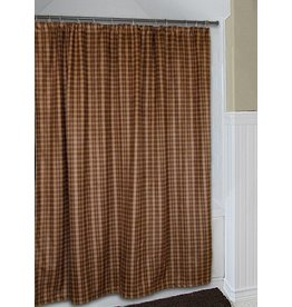Carstens Moose Plaid Shower Curtain