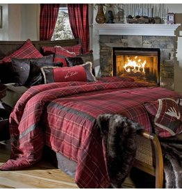 Carstens Sagamore Lake Plaid Bedding Set Queen