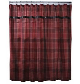 Carstens Sagamore Lake Plaid Shower Curtain