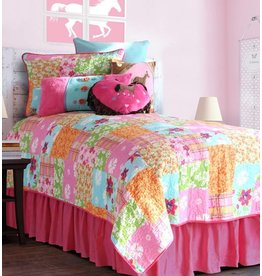Carstens Cowgirl Quilt Twin Bed Skirt