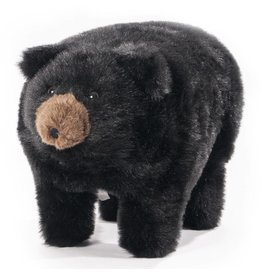 Carstens Midnight Black Bear Foot Stool