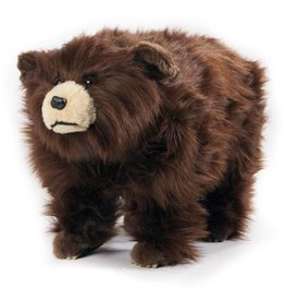 Carstens Griz Shaggy Brown Bear Foot Stool