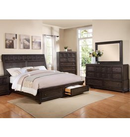 CROWN MARK ASHER QUEEN STORAGE FOOTBOARD/DRAWER