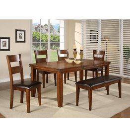 "CROWN MARK FIGARO DINING TABLE (1 X 18"" LEAF)"