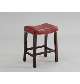 "CROWN MARK NADIA SADDLE CHAIR RED 24""H"