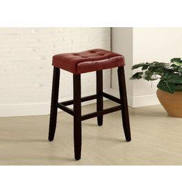 "CROWN MARK KENT SADDLE CHAIR RED 29""H"