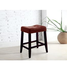 "CROWN MARK KENT SADDLE CHAIR RED 24""H"