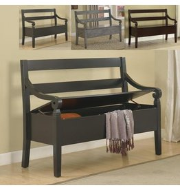 CROWN MARK KENNEDY STORAGE BENCH BLACK