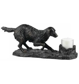 CAL LIGHTING Golden Retriever Candle Holder