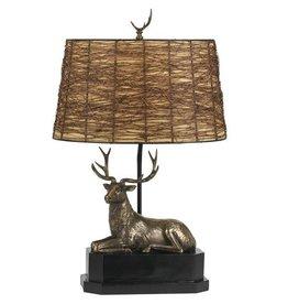CAL LIGHTING Resin Deer Table Lamp with Twig Shade