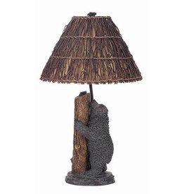 CAL LIGHTING Bear & Bee Resin Table Lamp with Twig Shade