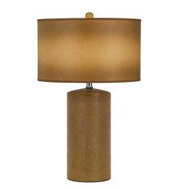 CAL LIGHTING Ceramic Table Lamp with Hardback Fabric Shade
