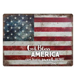 P GRAHAM DUNN God Bless America Our Home Sweet Home - Metal Sign