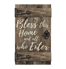 P GRAHAM DUNN Bless This Home & All Who Enter - Barn Door