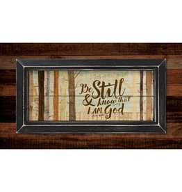 P GRAHAM DUNN Be Still and Know that I am God - Framed Pallet