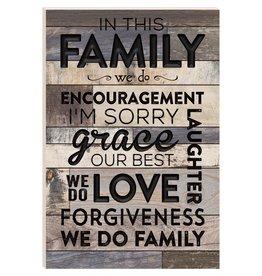 P GRAHAM DUNN In This Family - Barn Board