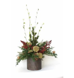 IN HOUSE Large Round Metal Floral Arrangement