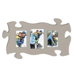 P GRAHAM DUNN Light Grey Picture Frame - Puzzle Piece