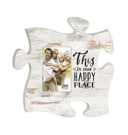 P GRAHAM DUNN This is Our Happy Place Picture Frame - Puzzle Piece