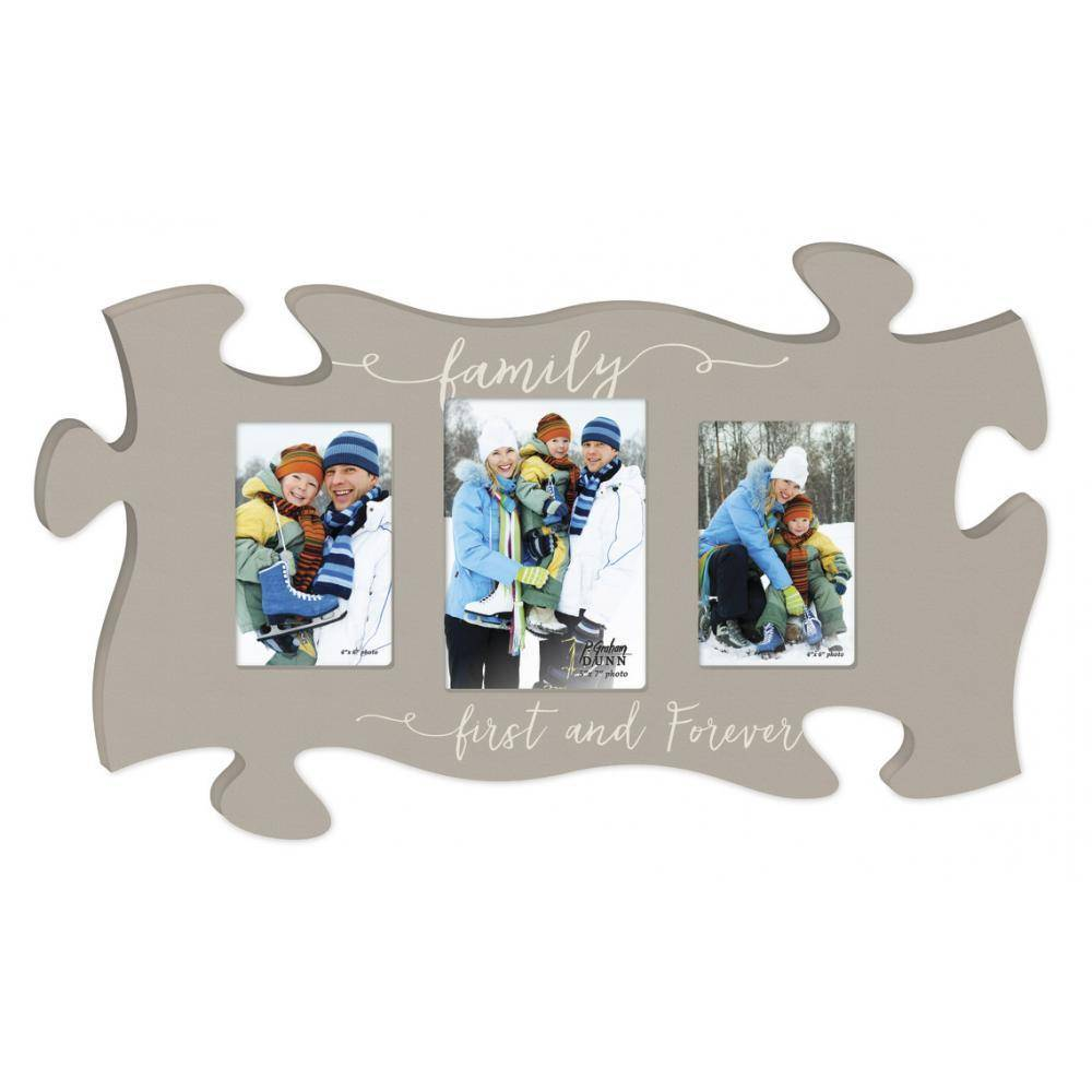 P GRAHAM DUNN Family First and Forever Picture Frame - Puzzle Piece ...