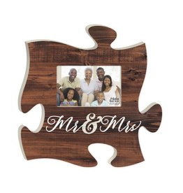 P GRAHAM DUNN Mr & Mrs Picture Frame - Puzzle Piece