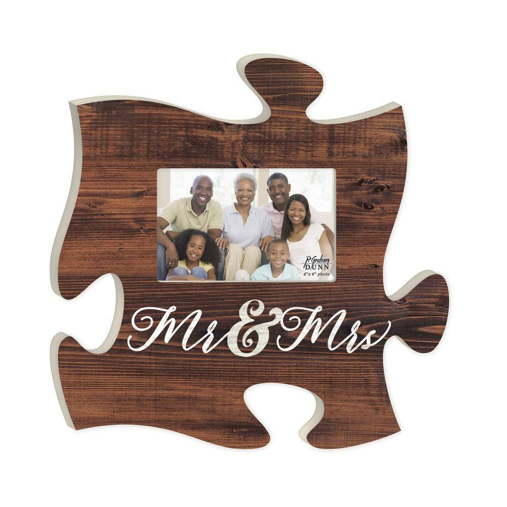 P GRAHAM DUNN Mr & Mrs Picture Frame - Puzzle Piece - HOME WAREHOUSE ...